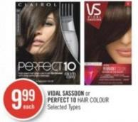 Vidal Sassoon or Perfect 10 Hair Colour