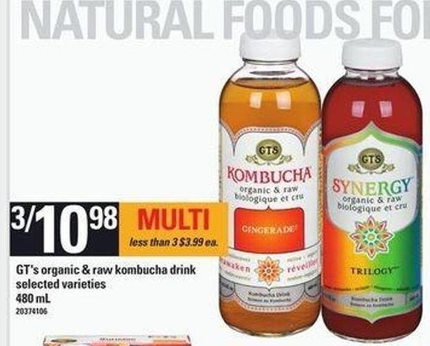 Gt's Organic & Raw Kombucha Drink - 480 mL