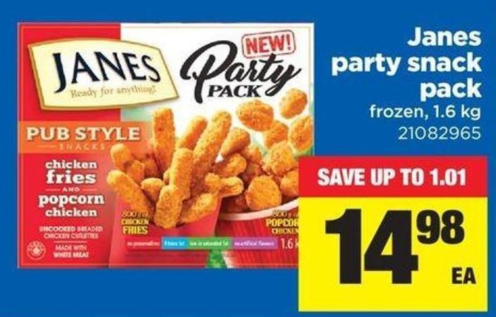 Janes Party Snack Pack - 1.6 Kg