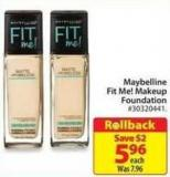 Maybelline Fit Me! Makeup Foundation