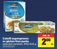 Catelli Supergreens Or Gluten Free Pasta - 300/340 g
