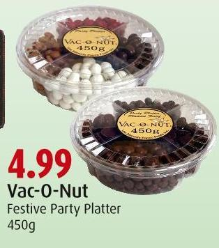 Vac-o-nut Festive Party Platter 450g