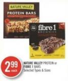 Nature Valley Protein or Fibre 1 Bars
