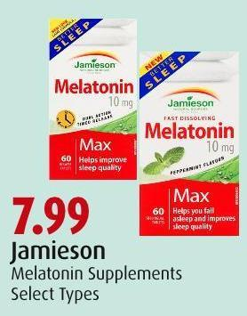 Jamieson Melatonin Supplements