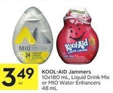 Kool-aid Jammers 10x180 mL - Liquid Drink Mix or Mio Water Enhancers 48 mL