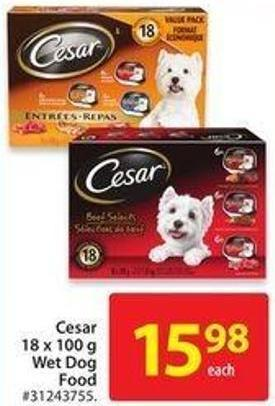 Cesar 18 X 100 Wet Dog Food