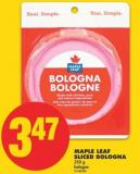 Maple Leaf Sliced Bologna - 250 G