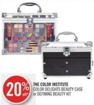 The Color Institute Color Delights Beauty Case or Defining Beauty Kit