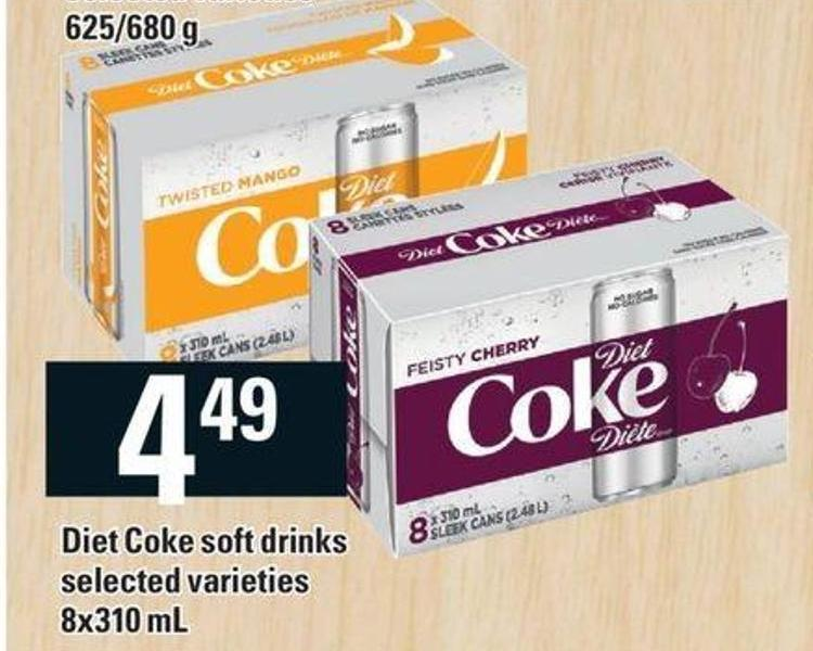 Diet Coke Soft Drinks - 8x310 Ml