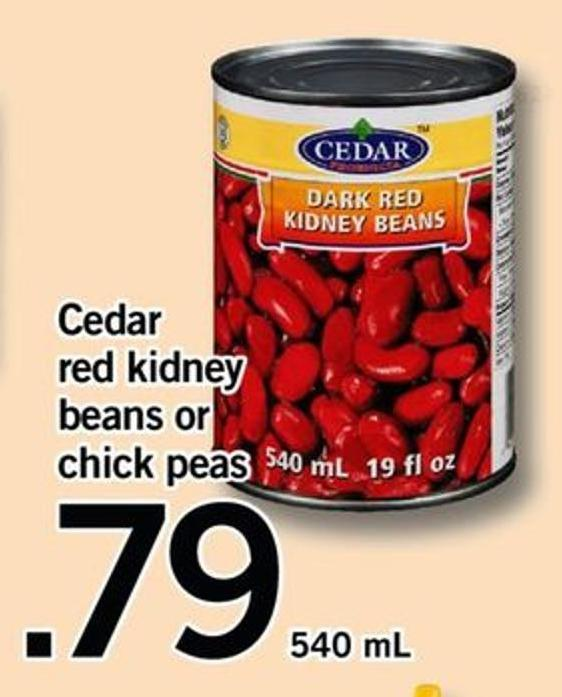 Cedar Red Kidney Beans Or Chick Peas