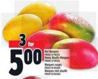 Red Mangoes Product Of Mexico Or Honey Ataulfo Mangoes Product Of Mexico