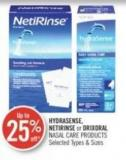 Hydrasense - Netirinse or Drixoral Nasal Care Products
