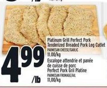 Platinum Grill Perfect Pork Tenderized Breaded Pork Leg Cutlet