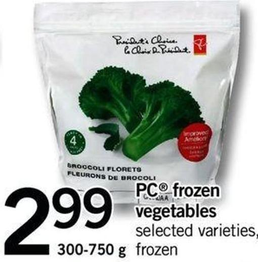 PC Frozen Vegetables - 300-750 G