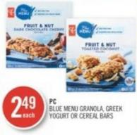 PC Blue Menu Granola - Greek Yogurt Or Cereal Bars