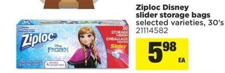 Ziploc Disney Slider Storage Bags - 30's