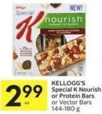 Kellogg's Special K Nourish or Protein Bars or Vector Bars 144-180 g