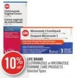 Life Brand Clotrimazole or Miconazole Feminine Care Products