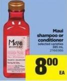 Maui Shampoo Or Conditioner - 385 mL