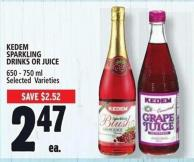 Kedem Sparkling Drinks Or Juice