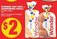 Wonder Hot Dog or Hamburger Rolls - 12's