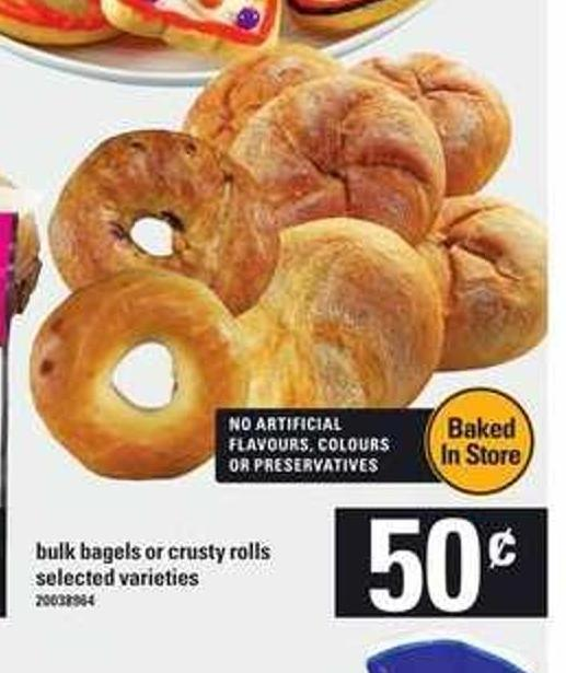 Bulk Bagels Or Crusty Rolls