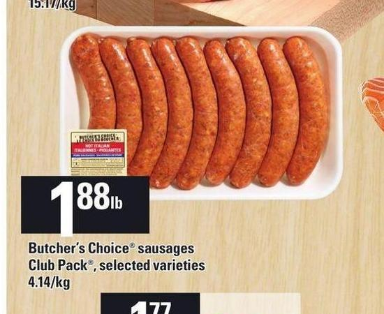 Butcher's Choice Sausages Club Pack