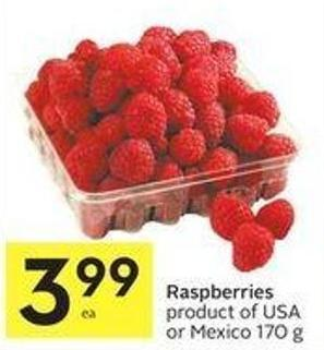 Raspberries Product of USA or Mexico 170 g