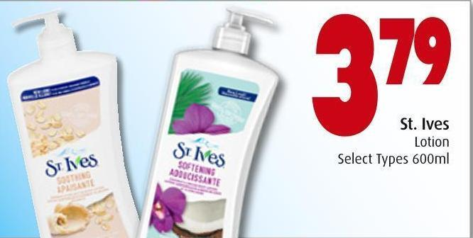 St. Ives Lotion