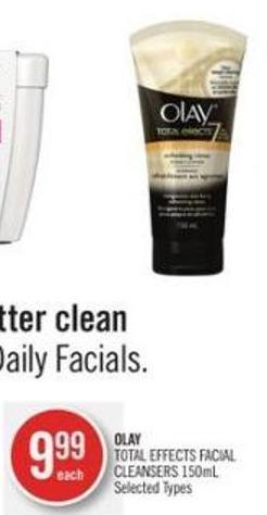Olay Total Effects Facial Cleansers 150ml