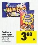 Cadbury Mini Eggs - 148-200 g