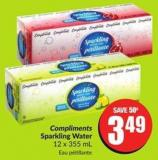 Compliments Sparkling Water 12 X 355 mL