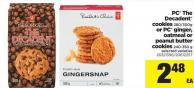 PC The Decadent Cookies 280/300g Or PC Ginger - Oatmeal Or Peanut Butter Cookies - 240-350 g