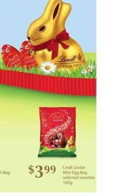 Lindt Lindor Mini Egg Bag - 100g