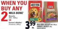 Milk-bone Biscuits 800 – 900 g or Farmer's Medley 340 g