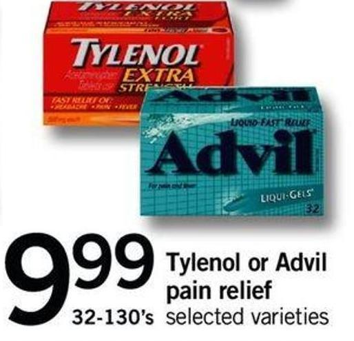 Tylenol Or Advil Pain Relief - 32-130's