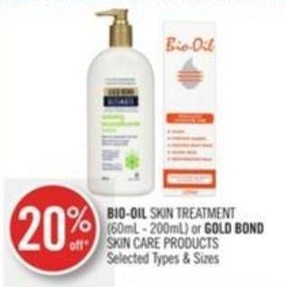 Bio-oil Skin Treatment (60ml - 200ml) or Gold Bond Skin Care Products