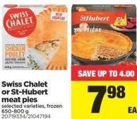 Swiss Chalet Or St-hubert Meat Pies - 650-800 g