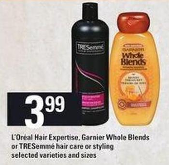 L'oréal Hair Expertise - Garnier Whole Blends Or Tresemmé Hair Care Or Styling