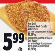 Red Grill Breaded Beef Cutlets Value Pack