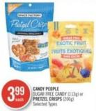 Candy People Sugar Free Candy (113g) or Pretzel Crisps (200g)
