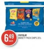 Fritolay Variety Pack Chips 20's