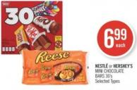 Nestlé or Hershey's Mini Chocolate Bars 30's
