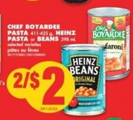 Chef Boyardee Pasta - 411-425 g - Heinz Pasta or Beans - 398 mL
