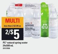 PC Natural Spring Water - 24x500 mL