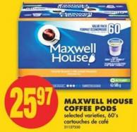 Maxwell House Coffee PODS - 60's