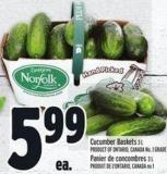 Cucumber Baskets 3 L