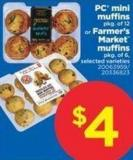 PC Mini Muffins - Pkg Of 12 Or Farmer's Market Muffins - Pkg Of 6