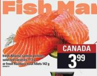 Fish Mar Fresh Atlantic Salmon Portions - 113 G Or Fresh Rainbow Trout Fillets 142 G