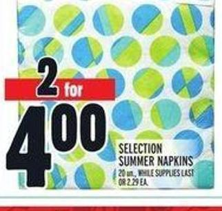 Selection Summer Napkins